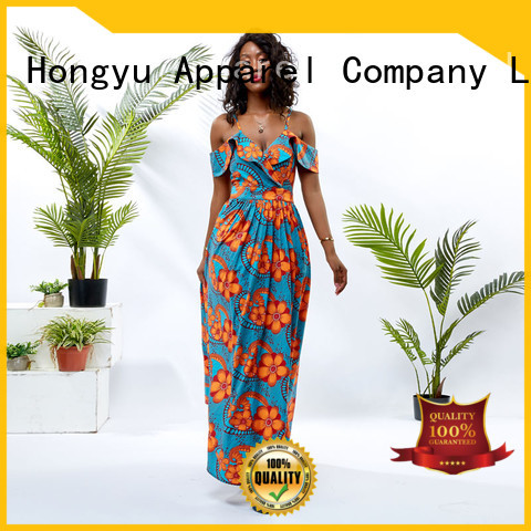 HongYu Apparel floral dresses for women off africa