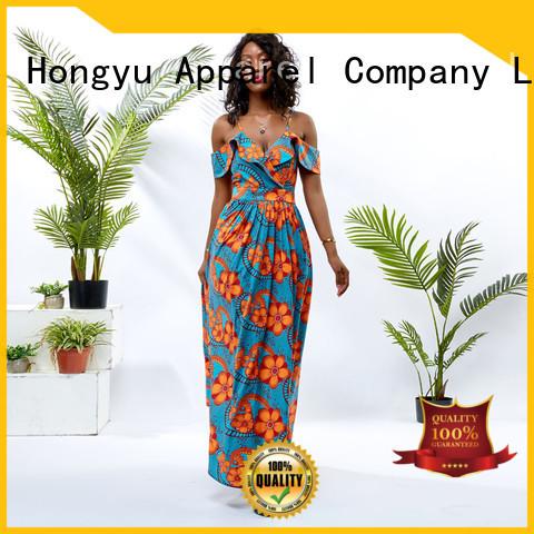 HongYu Apparel floral dresses for women off africa