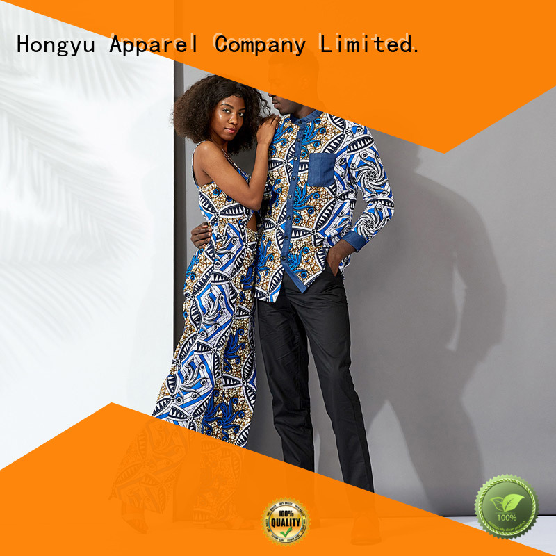 HongYu Apparel casual couple clothes wear ladies