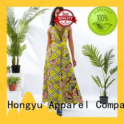 HongYu Apparel african print dresses floor reception