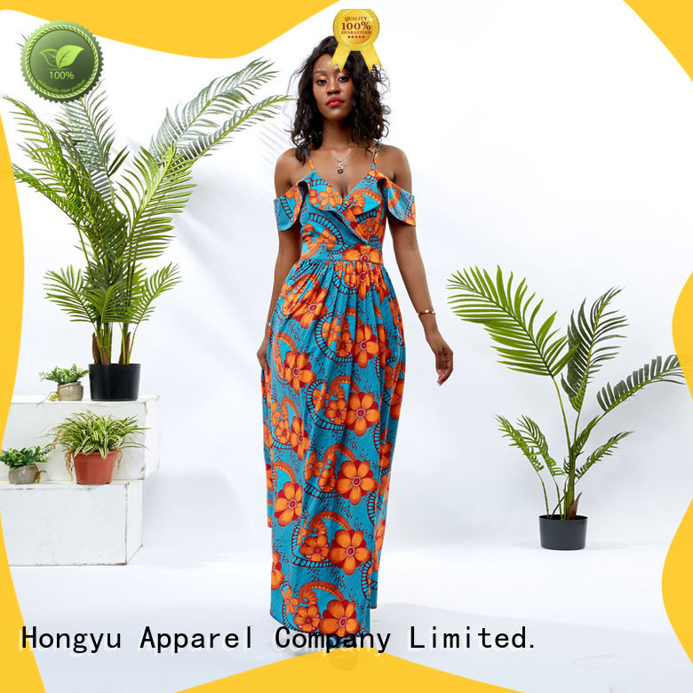 two african print dresses styles shoulder reception
