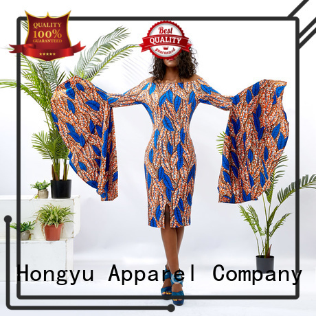 HongYu Apparel stylish dress for women shoulder africa