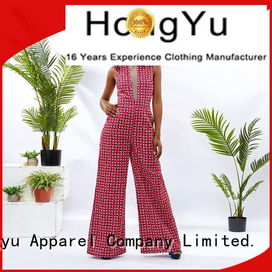 HongYu Apparel oem holiday jumpsuits romper travel
