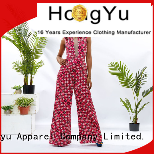HongYu Apparel oem holiday jumpsuits romper travel