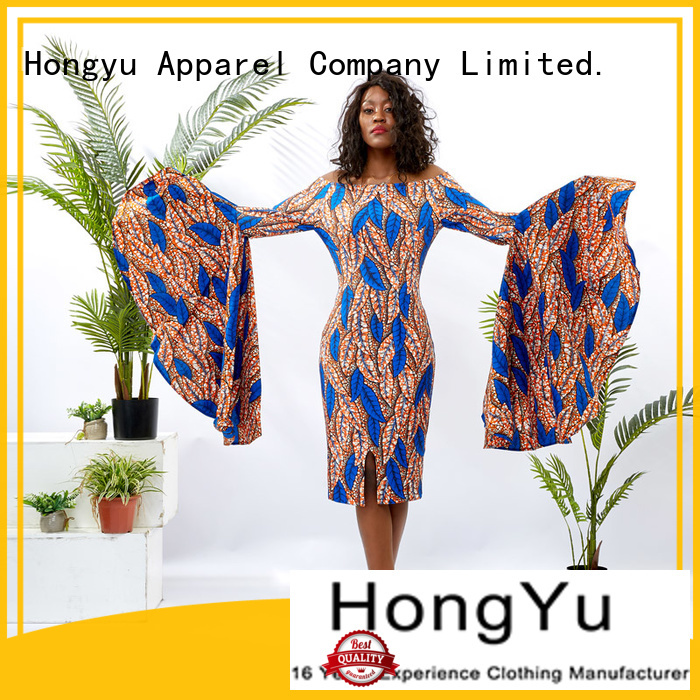 HongYu Apparel wrap beautiful dresses for ladies off africa