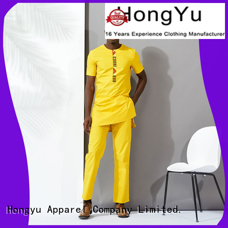 HongYu Apparel two african clothing for men bottoms work