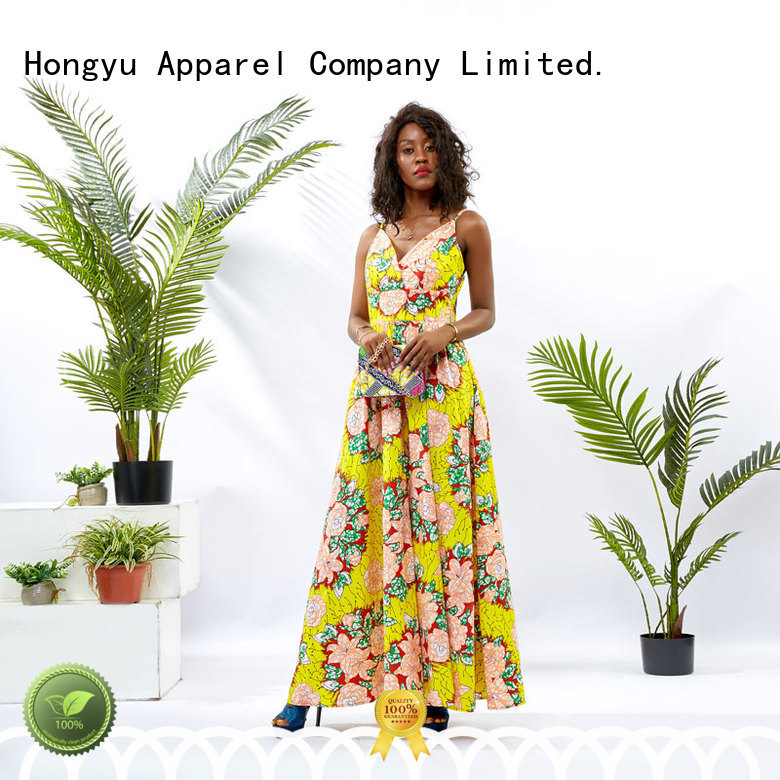 HongYu Apparel midi long wrap dress shoulder mall