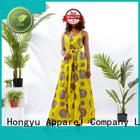 HongYu Apparel summer maxi dresses shoulder mall