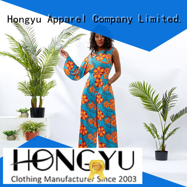 HongYu Apparel ankara female jumpsuit travel