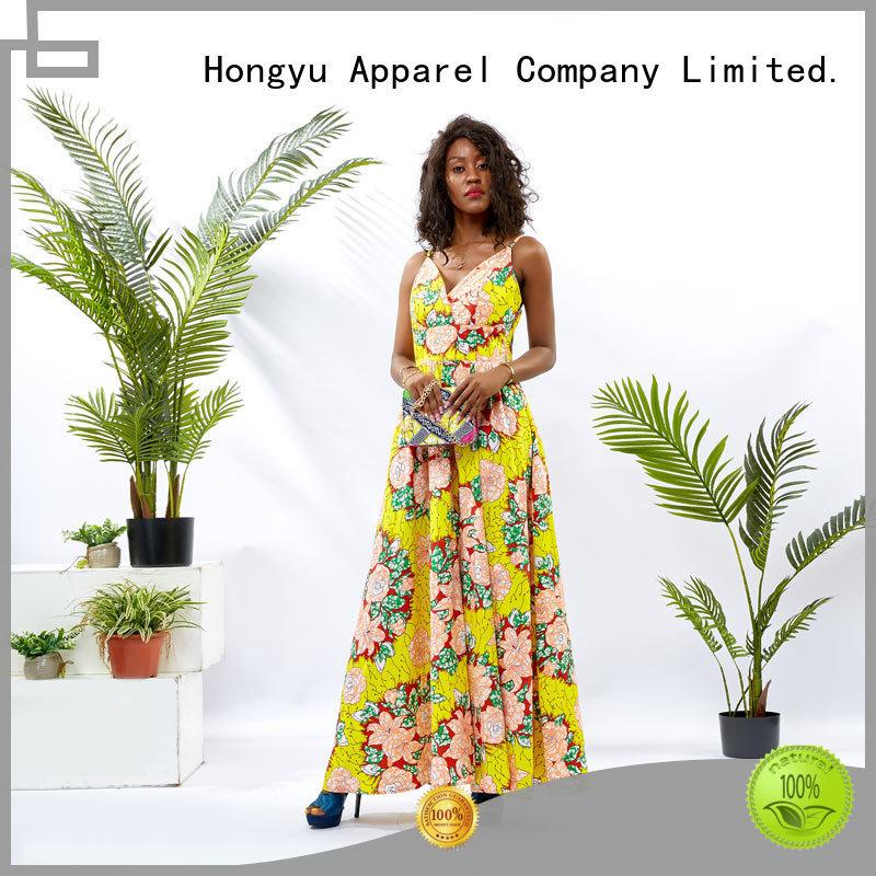 HongYu Apparel ankara african print dresses styles shoulder mall