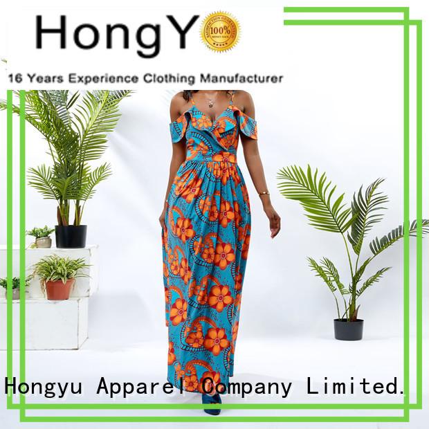 HongYu Apparel beautiful dresses for women shoulder africa