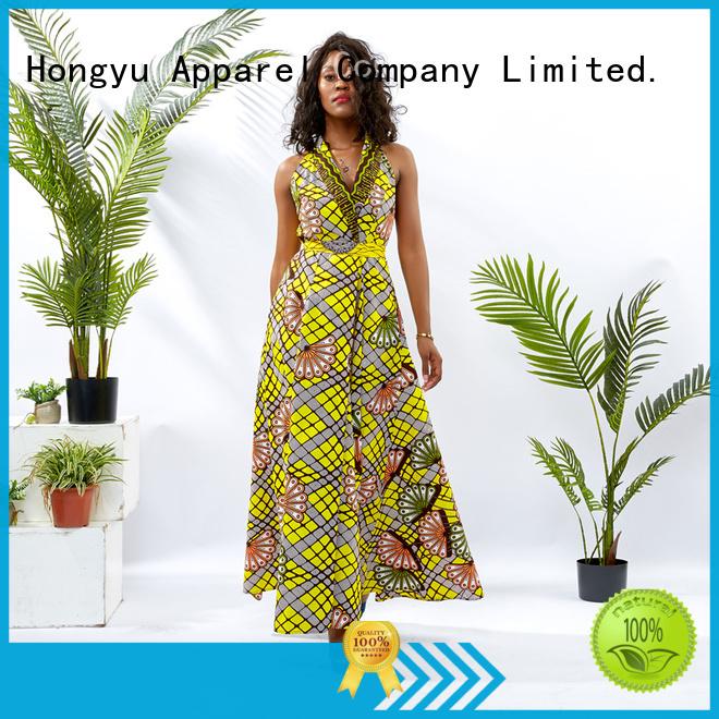 HongYu Apparel sequin classy dresses off reception
