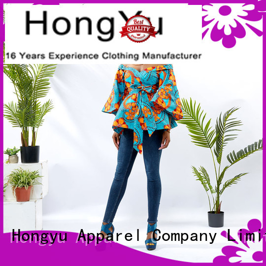 fashion ladies tunic tops shoulder africa