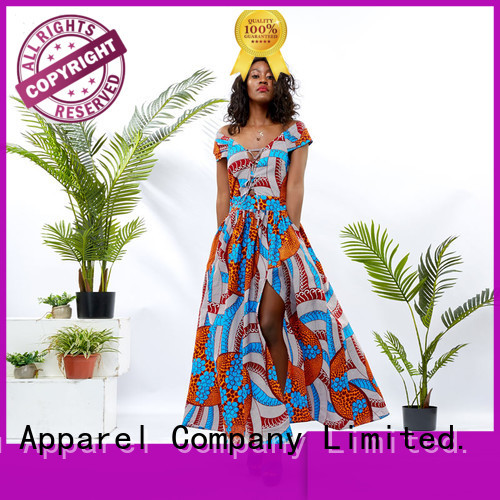 HongYu Apparel oem african print dress designs shoulder reception