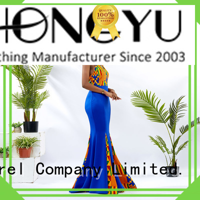 short african dresses floor reception HongYu Apparel