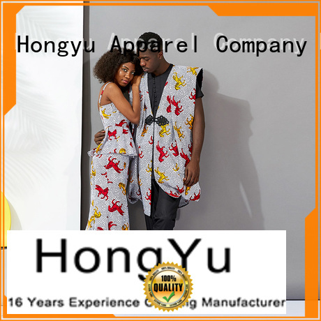 HongYu Apparel customized matching clothes for couples wear ladies