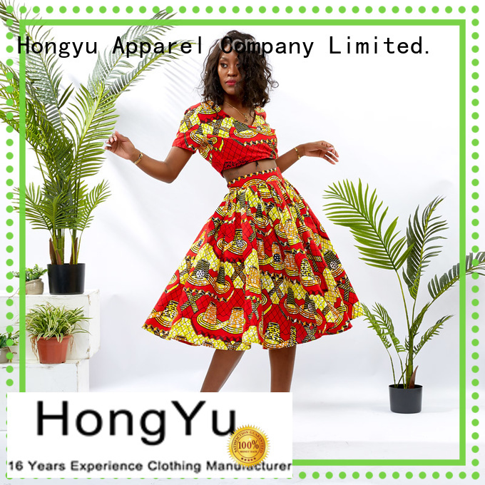 HongYu Apparel women two piece print women