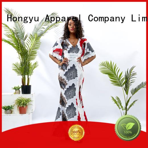 HongYu Apparel cotton dress floor africa