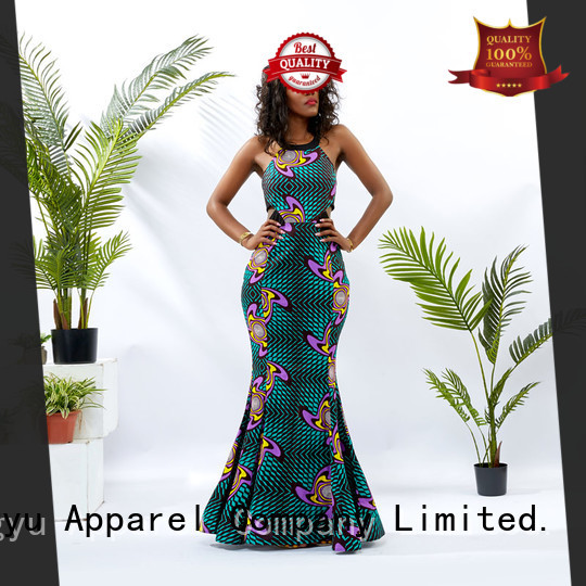 HongYu Apparel modern african print dresses women reception