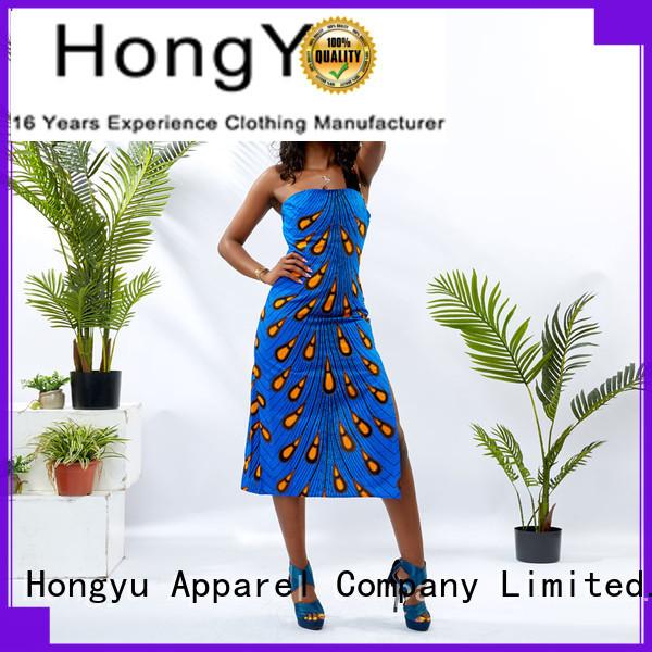 HongYu Apparel maxi ladies dress shoulder mall