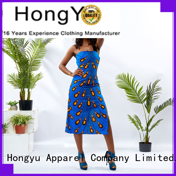 HongYu Apparel maxi ladies dress shoulder mall