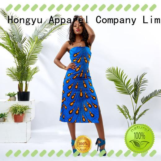 african print dress designs off mall HongYu Apparel