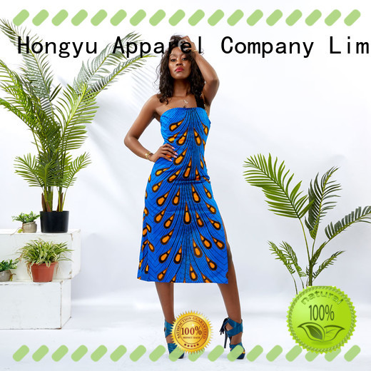african print dress designs off mall HongYu Apparel