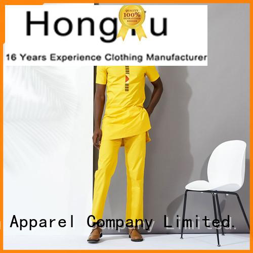 HongYu Apparel yellow mens loungewear short man