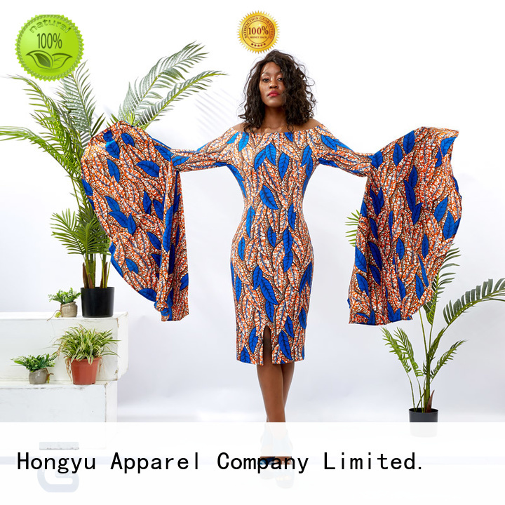HongYu Apparel casual dresses shoulder reception