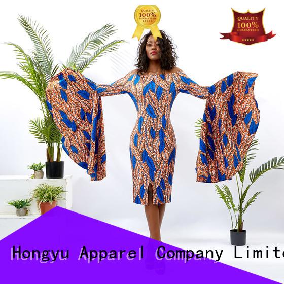 HongYu Apparel ladies summer dresses women africa