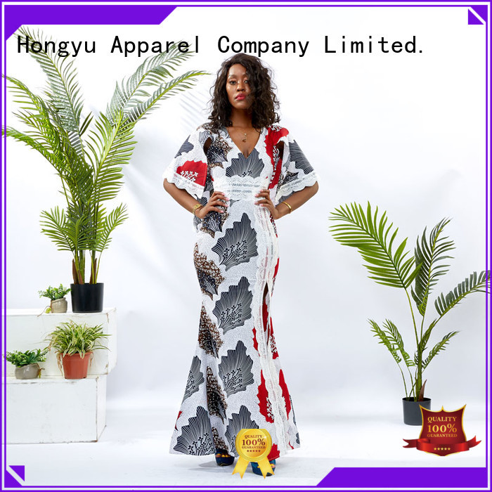 HongYu Apparel african print dresses for ladies off reception