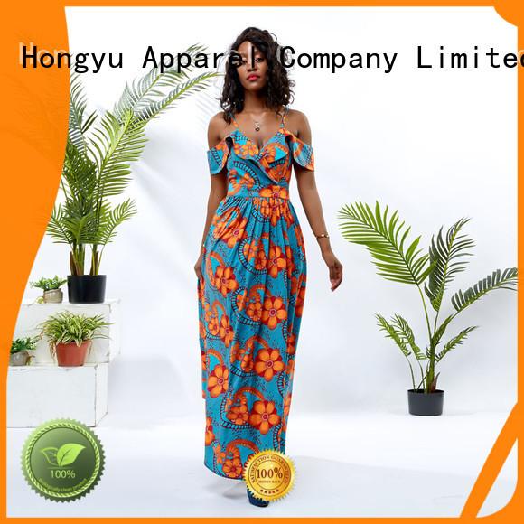 HongYu Apparel pieces ladies summer dresses floor reception
