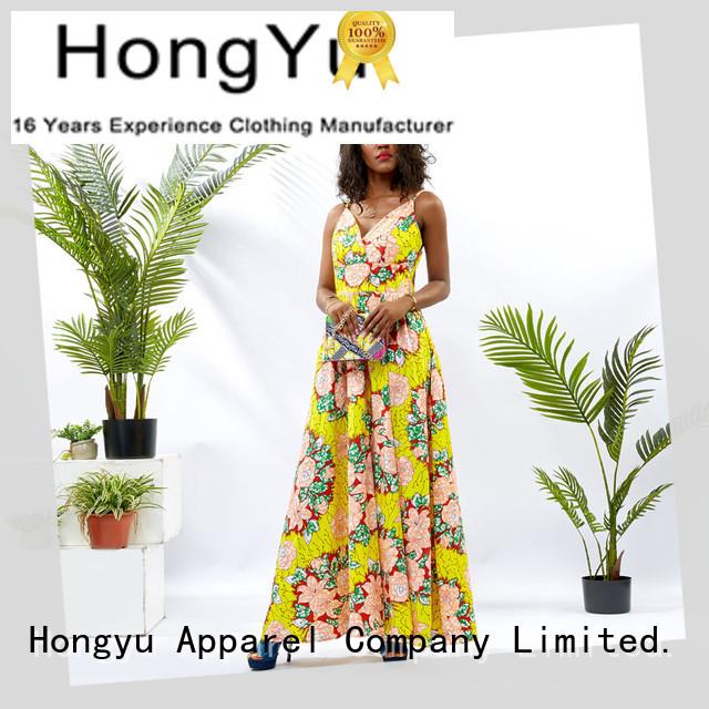 HongYu Apparel ladies party dresses shoulder mall