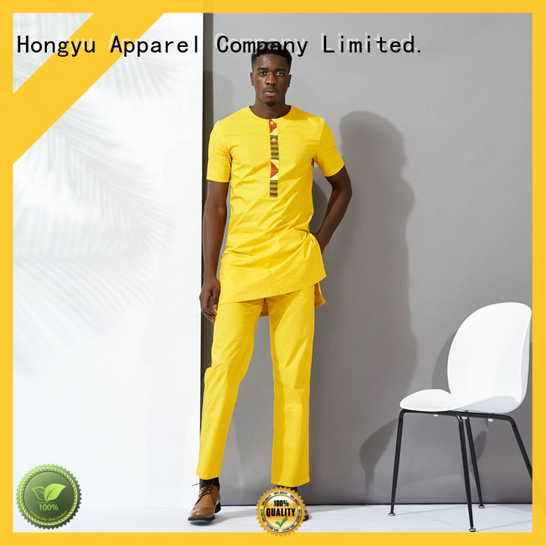 HongYu Apparel men two pieces clothes work