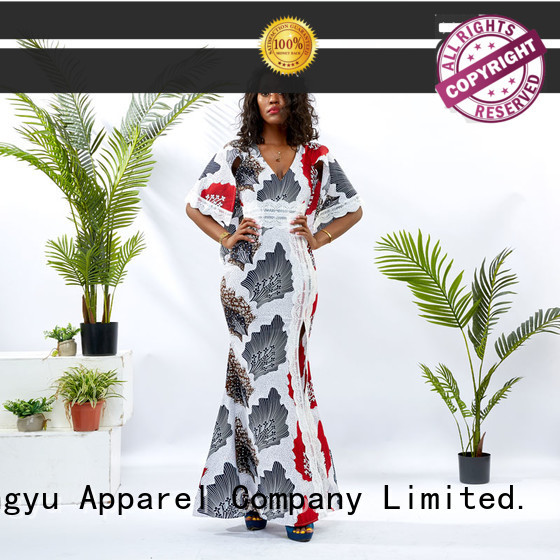 HongYu Apparel print classy dresses women africa