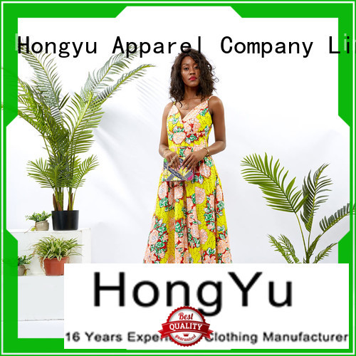 HongYu Apparel african print dress designs floor mall