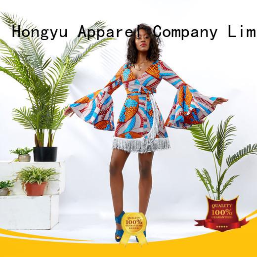 HongYu Apparel slip one piece dress for women shoulder reception