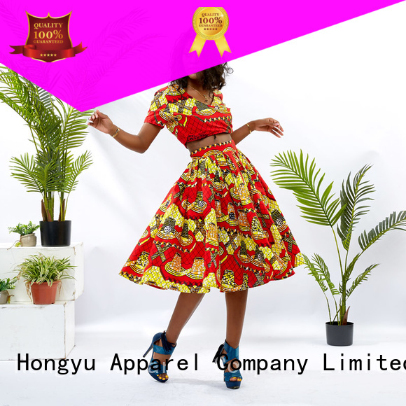 HongYu Apparel 2 piece crop top and skirt travel