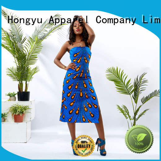 DH036 Women African Print Slip Sequin Dress