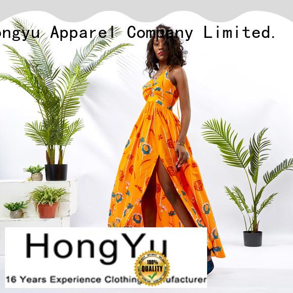 HongYu Apparel ladies summer dresses shoulder reception