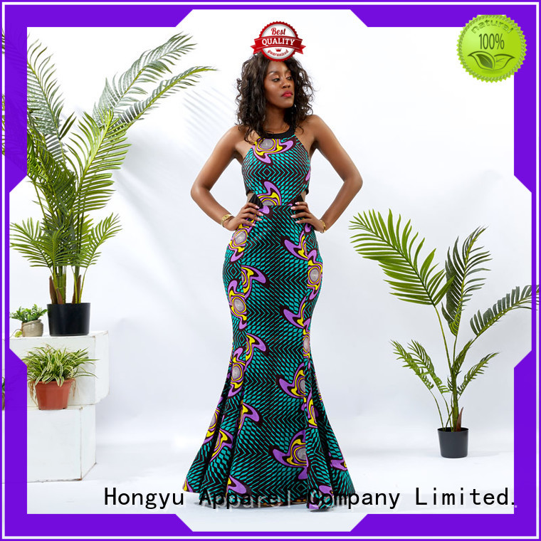 HongYu Apparel trim african attire dresses women africa