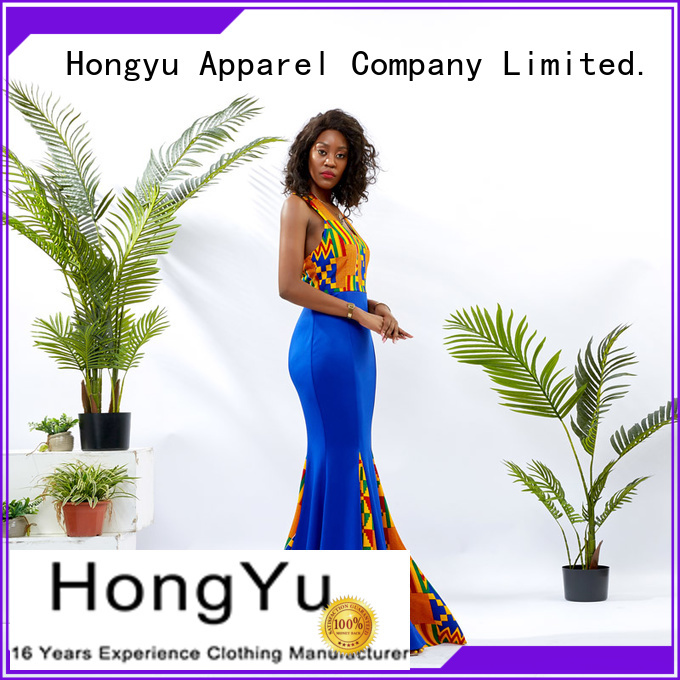 HongYu Apparel backless floral maxi dress floor mall