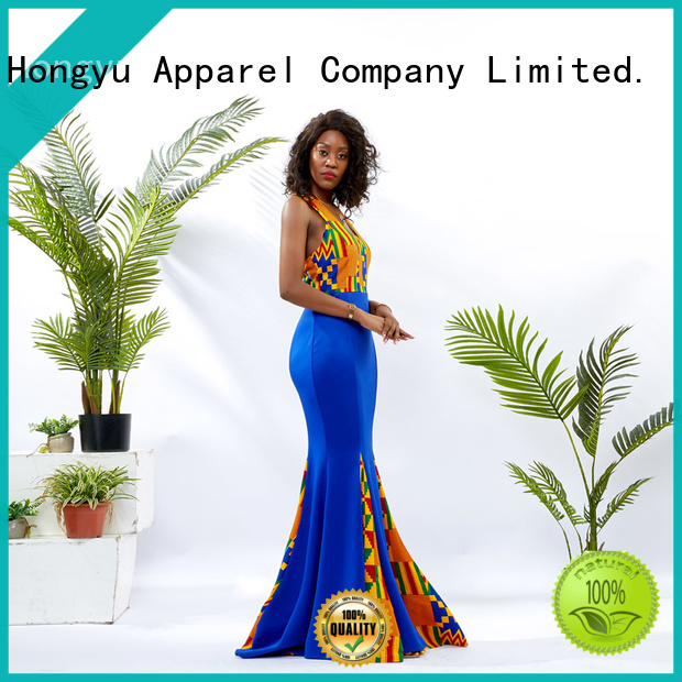 HongYu Apparel floral stylish dress women reception