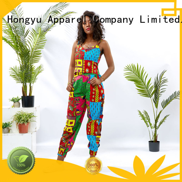 HongYu Apparel two piece short set print africa