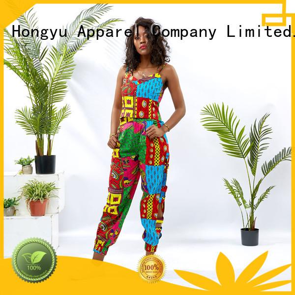 HongYu Apparel two piece short set print africa