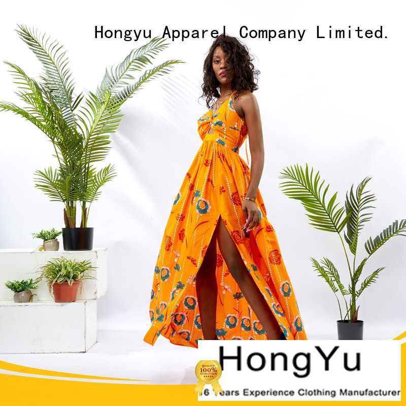 HongYu Apparel womens wrap dress floor africa