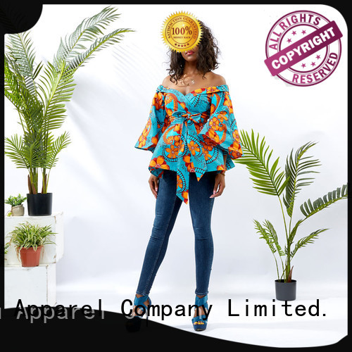 HongYu Apparel ladies top design shoulder africa