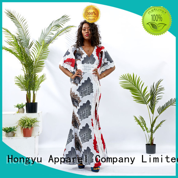 HongYu Apparel backless short wrap dress floor reception