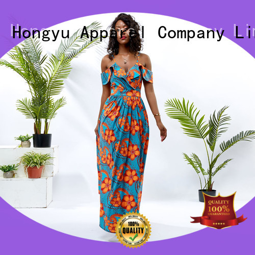 HongYu Apparel two trendy dresses shoulder africa