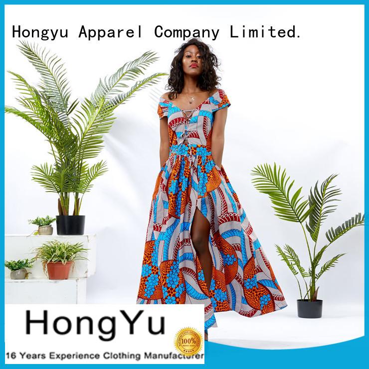 print short african dresses women africa